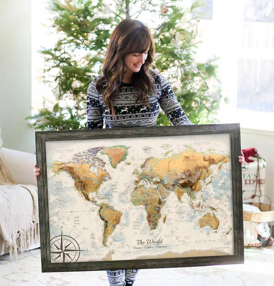 map travel gift