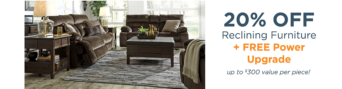 20% off Reclining Furniture