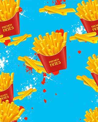 french fry pop art background
