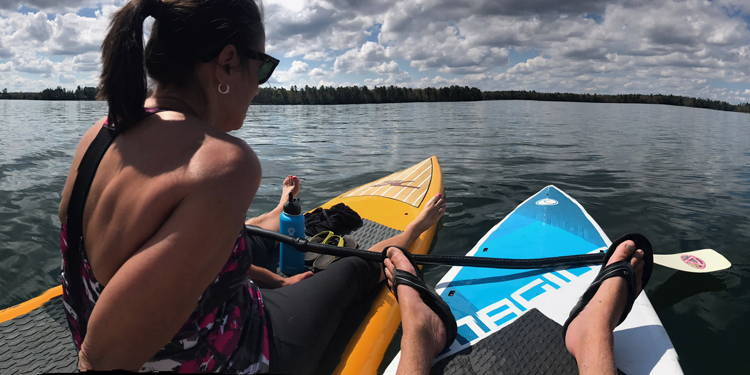 northwoods paddle board rental