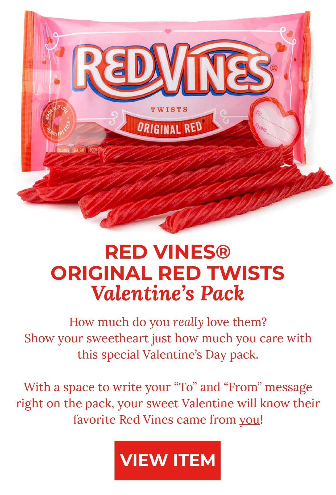 Red Vines Original Red Twists Valentine's Pack - VIEW ITEM