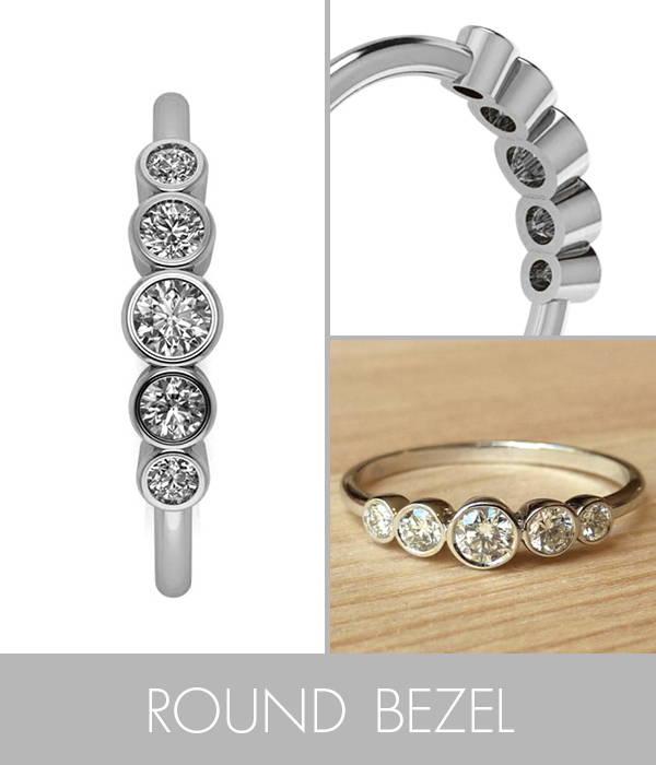 Five Stone Bezel Set Ring