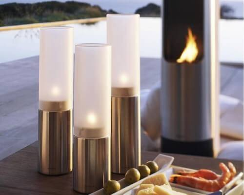 Contemporary candle holders from Blomus Faro.