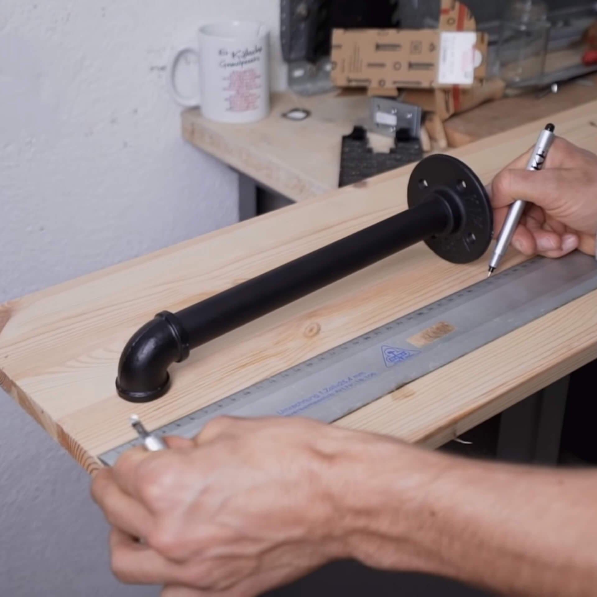 Kleiderstange DIY Anleitung