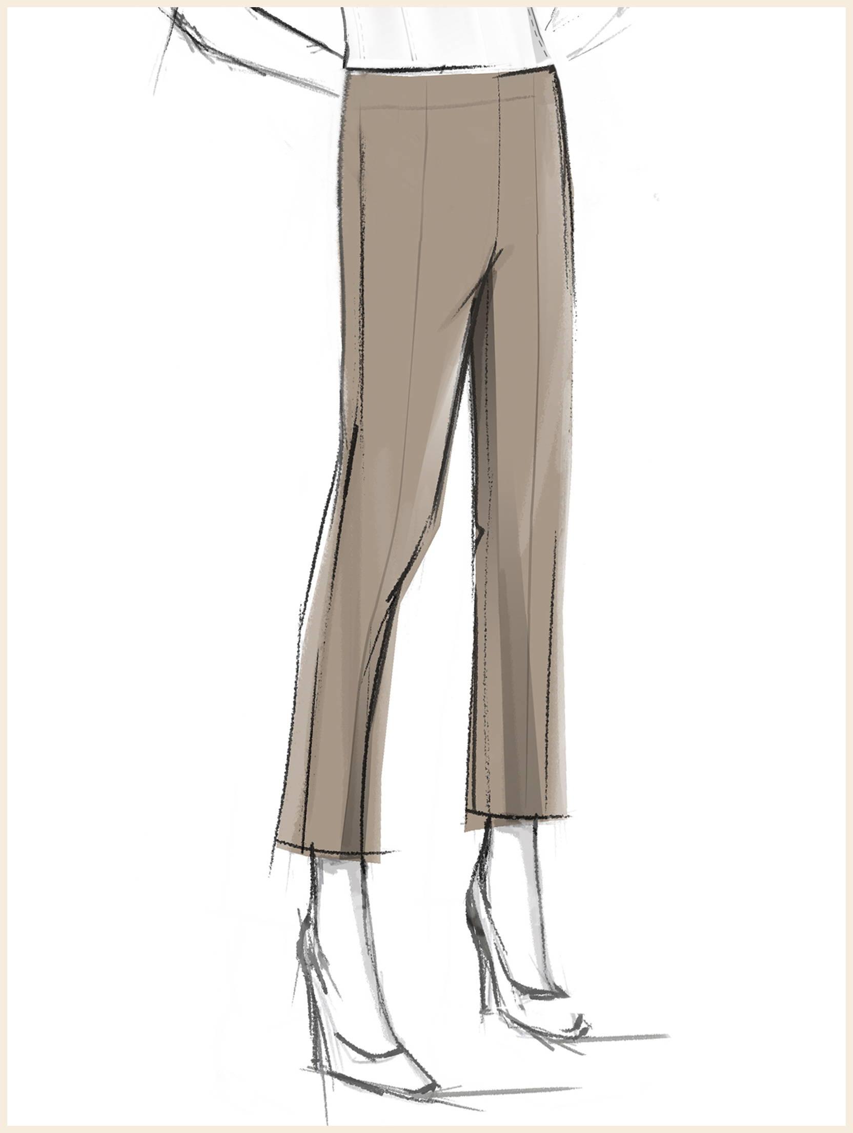 Sketch of Seasonless Ponte Pull-On Pant, Macchiato