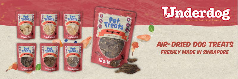 underdog dehydrated air dried dog treats collection