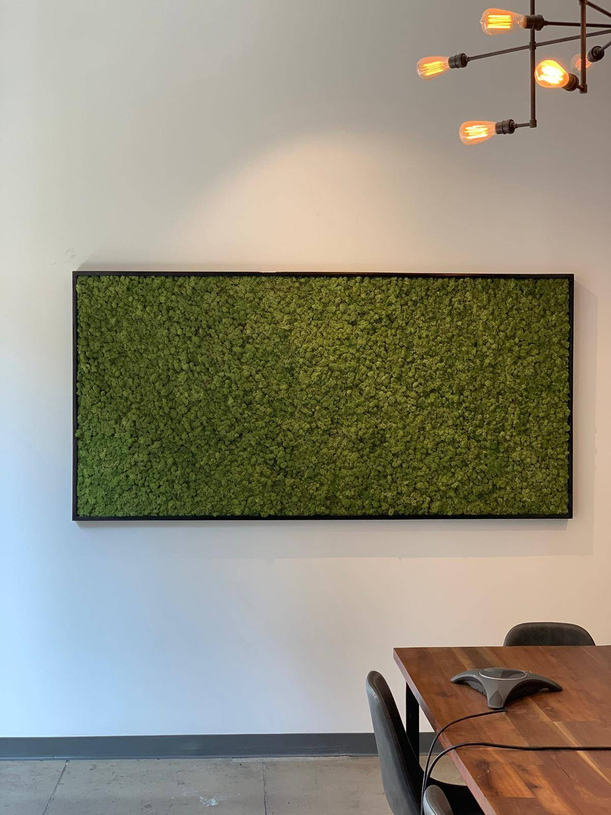 Reindeer Moss Wall Garden at Stella Rising Marketing Agency