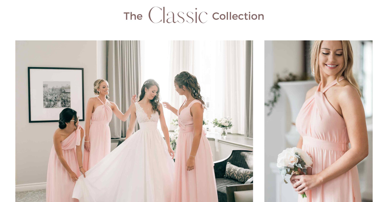pink bridesmaid dresses canada