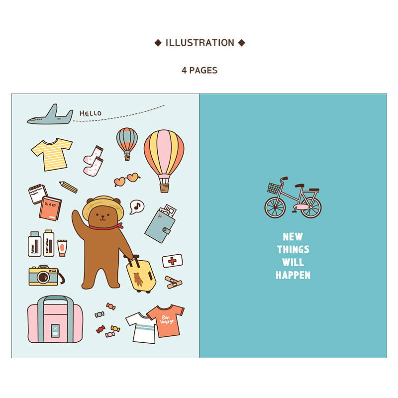 illustration - Monopoly 2020 Toffeenut friends dated weekly diary planner