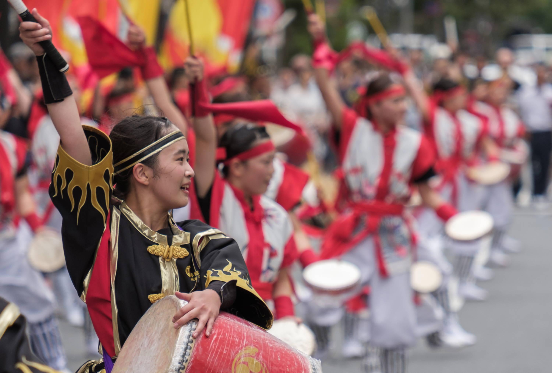 Performers at Shinjuku Eisa Festival