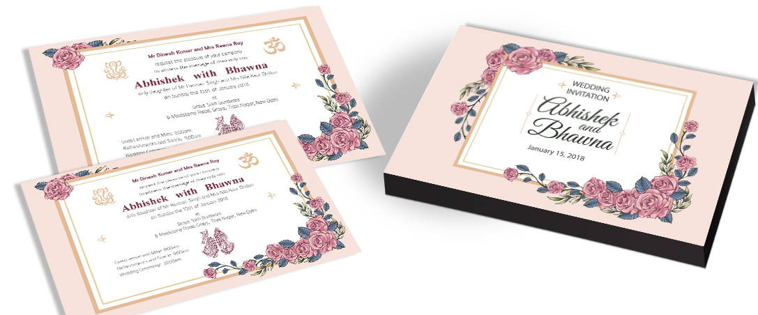 Floral Theme Invitation Cards