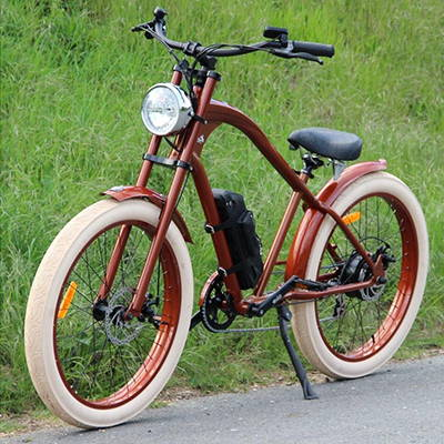The Vacay electric beach cruiser is perfect for commuting and off-roading alike.