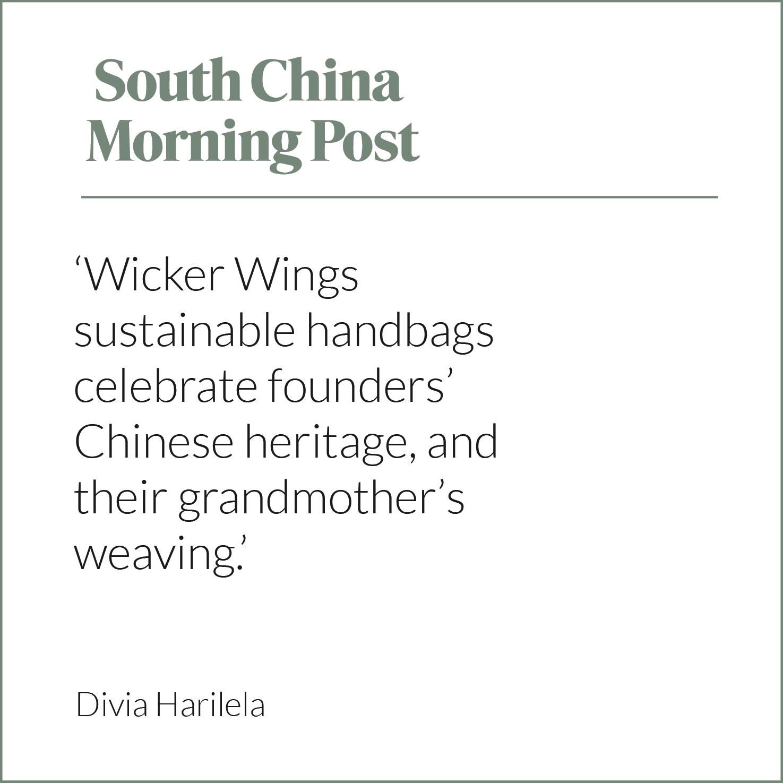 South China Morning Post, SCMP, Divia Harilea, Wicker Bag, Rattan Bag, Eco Friendly Bag, Wicker Wings, Wicker Wings Bag