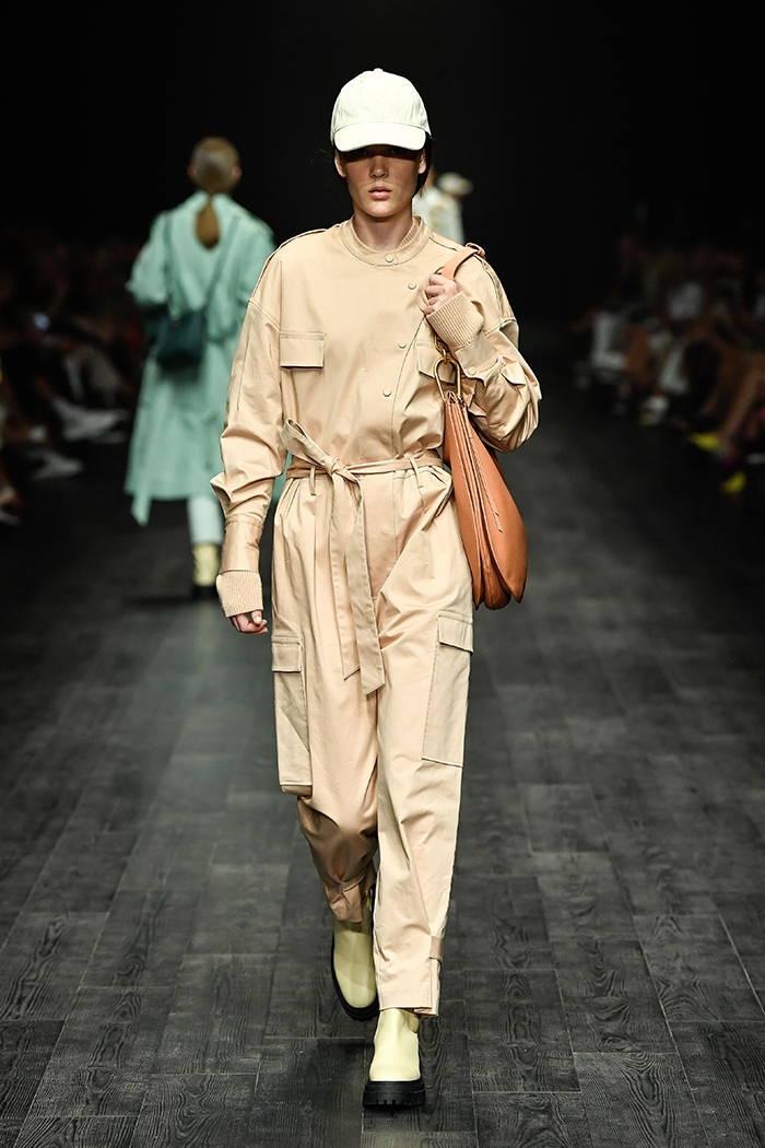 Oroton VAMFF Vogue Runway Fashion Week Pink Jumpsuit