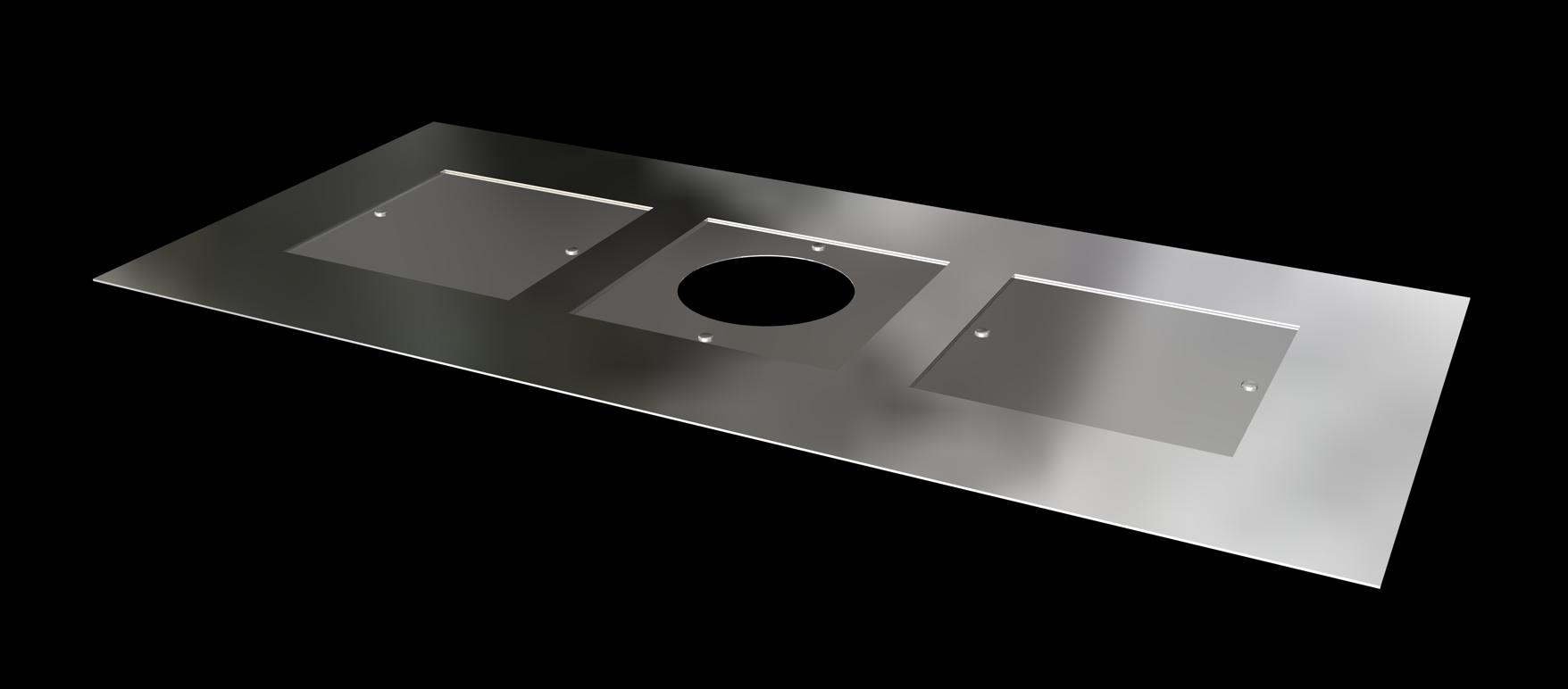 Metal closure plate
