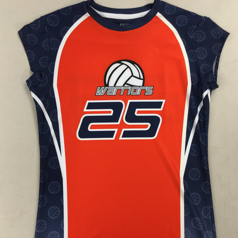 Custom Volleyball Jersey Example (Women's Cap Sleeve)