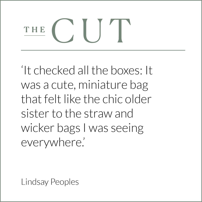 The Cut, Lindsay Peoples, Wicker Bag, Rattan Bag, Eco Friendly Bag, Wicker Wings, Wicker Wings Bag