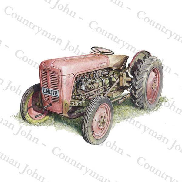 Countryman John Red Fergusson Tractor Artwork - 1601