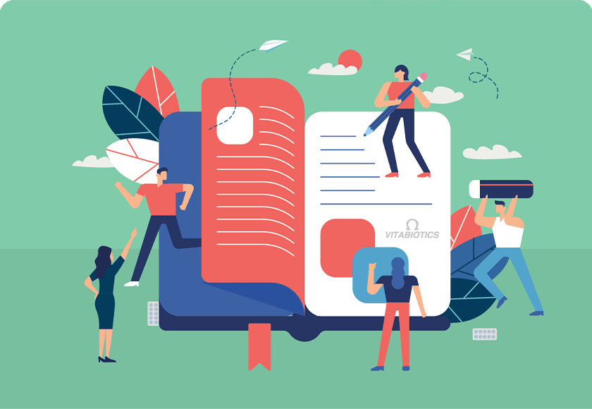 People Writing In Book Graphic