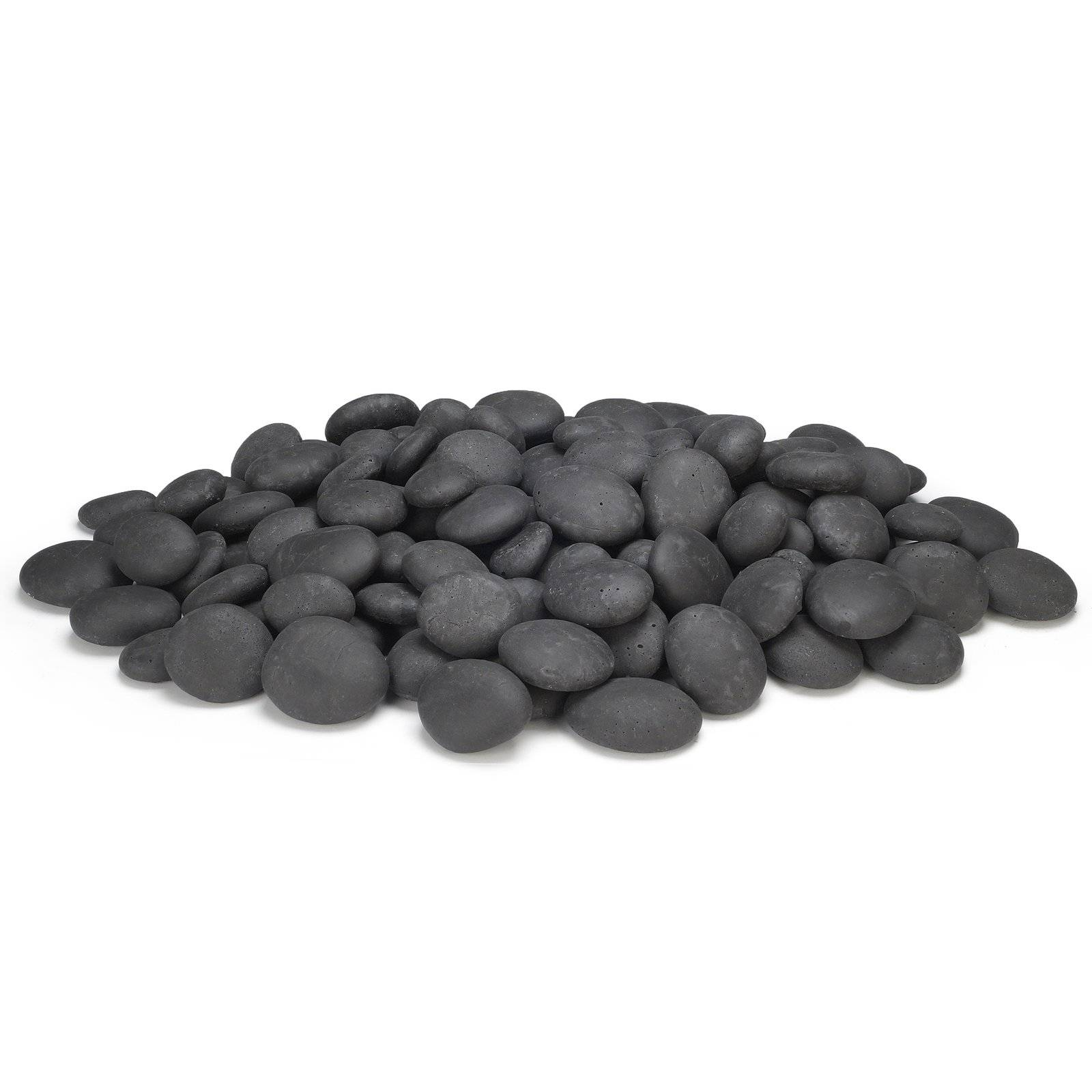 A pile of ceramic river rocks