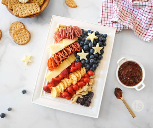 flag-inspired charcuterie