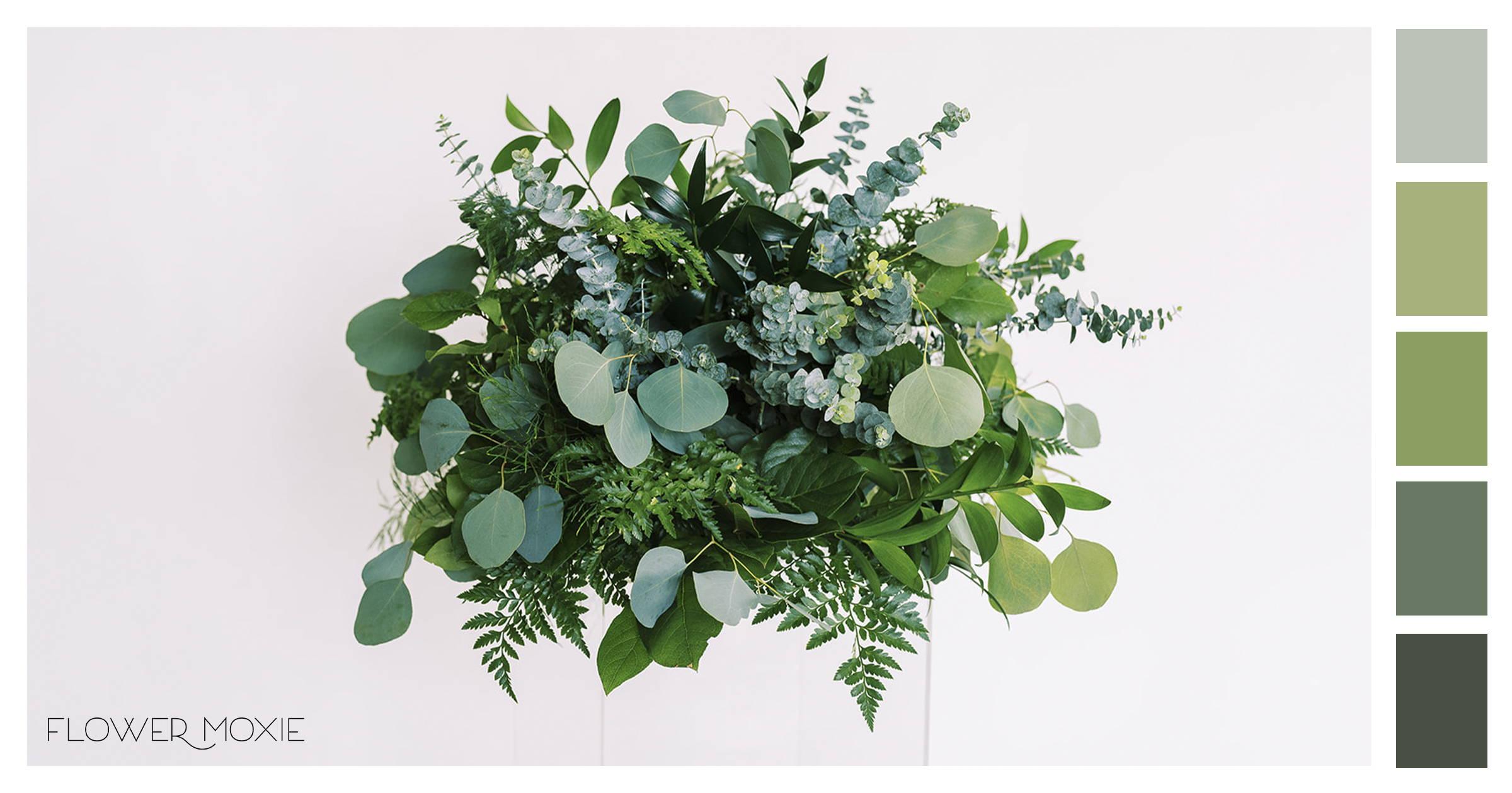 greens wedding diy