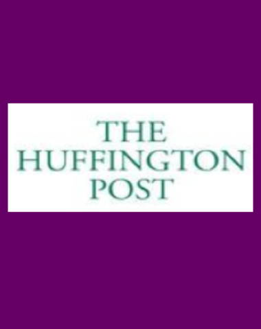 Purple rectangle icon with The Huffington Post logo in center