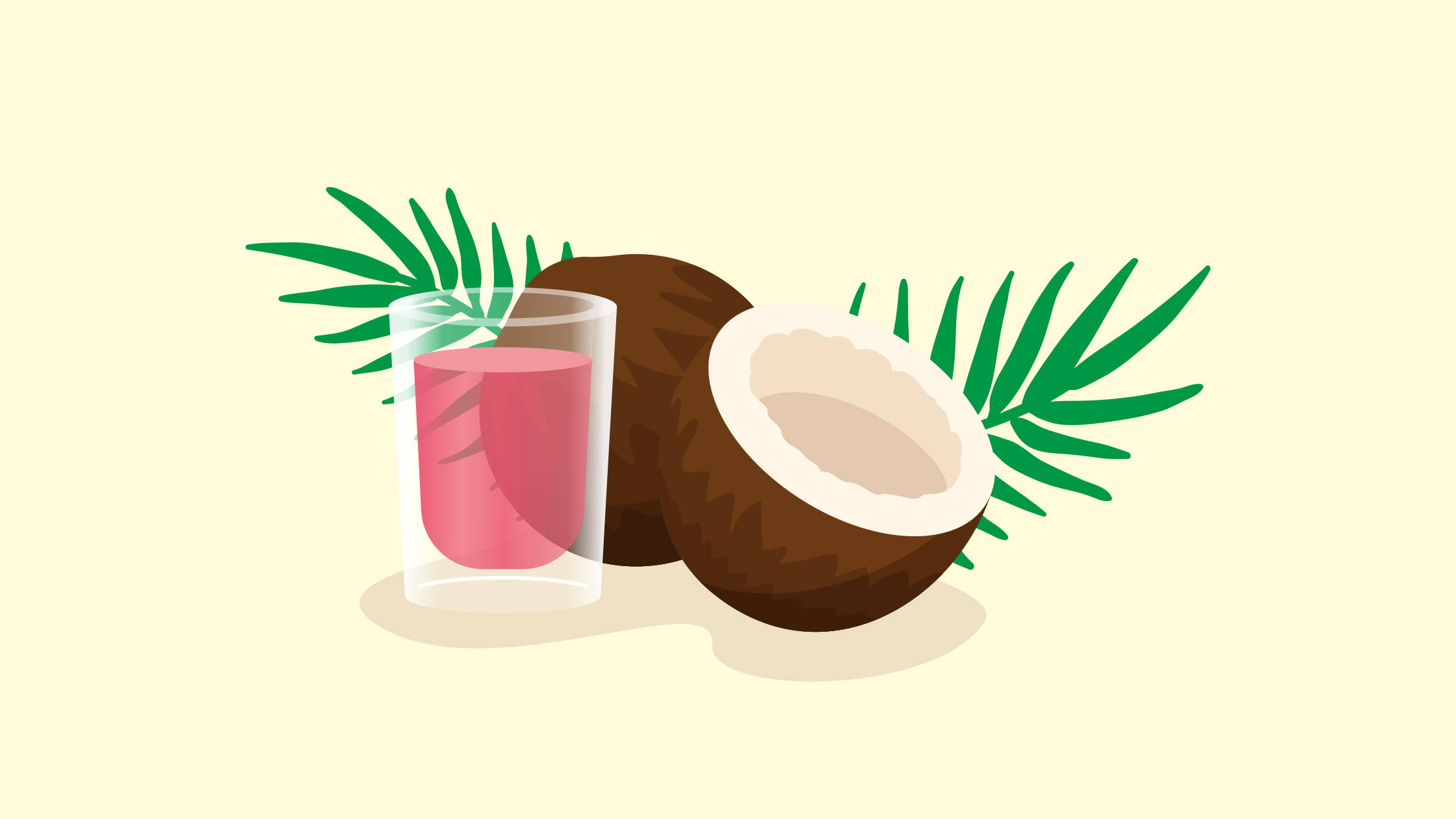 Pink coconut water