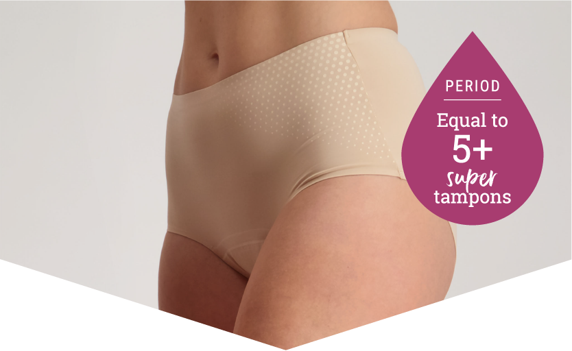 Heavy Periods Panties - 5 Super Tampons Worth - Just'nCase by Confitex