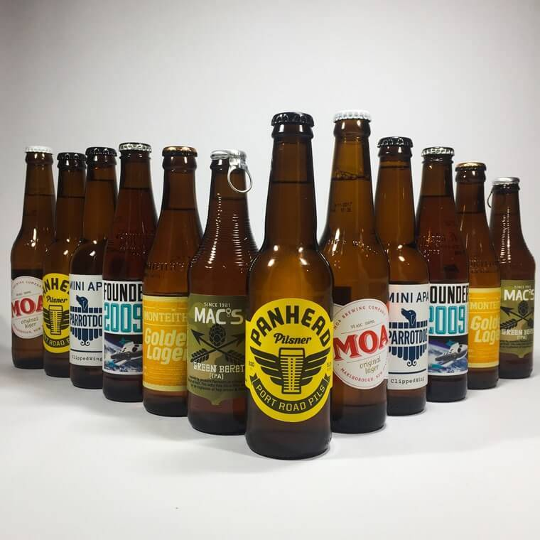 12 beers in a line