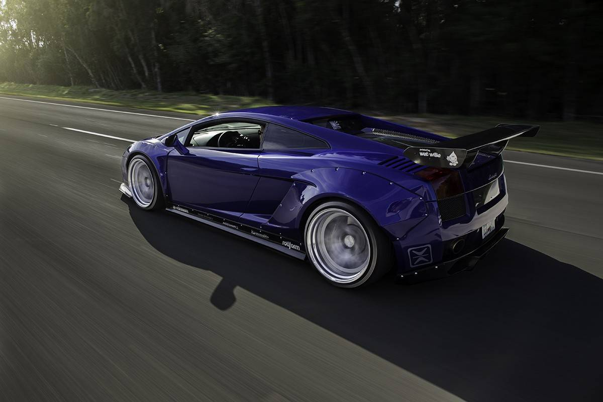 Accuair Air Suspension Equipped Lamborghini