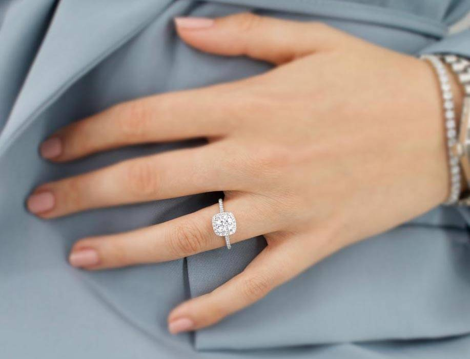 Blush Moissanite Ring