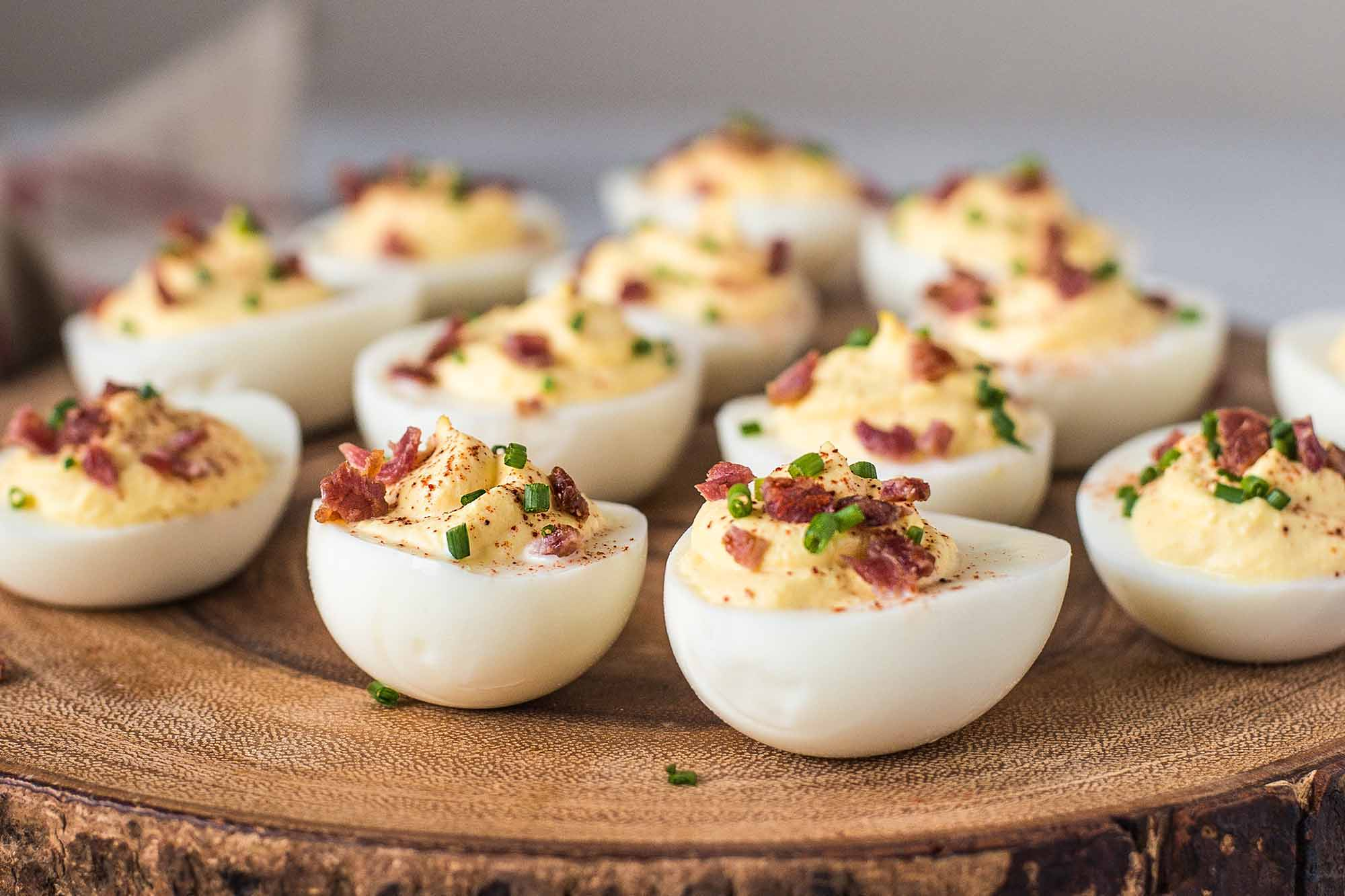 Herb infused 420 Deviled Eggs Summer Appetizer Recipe