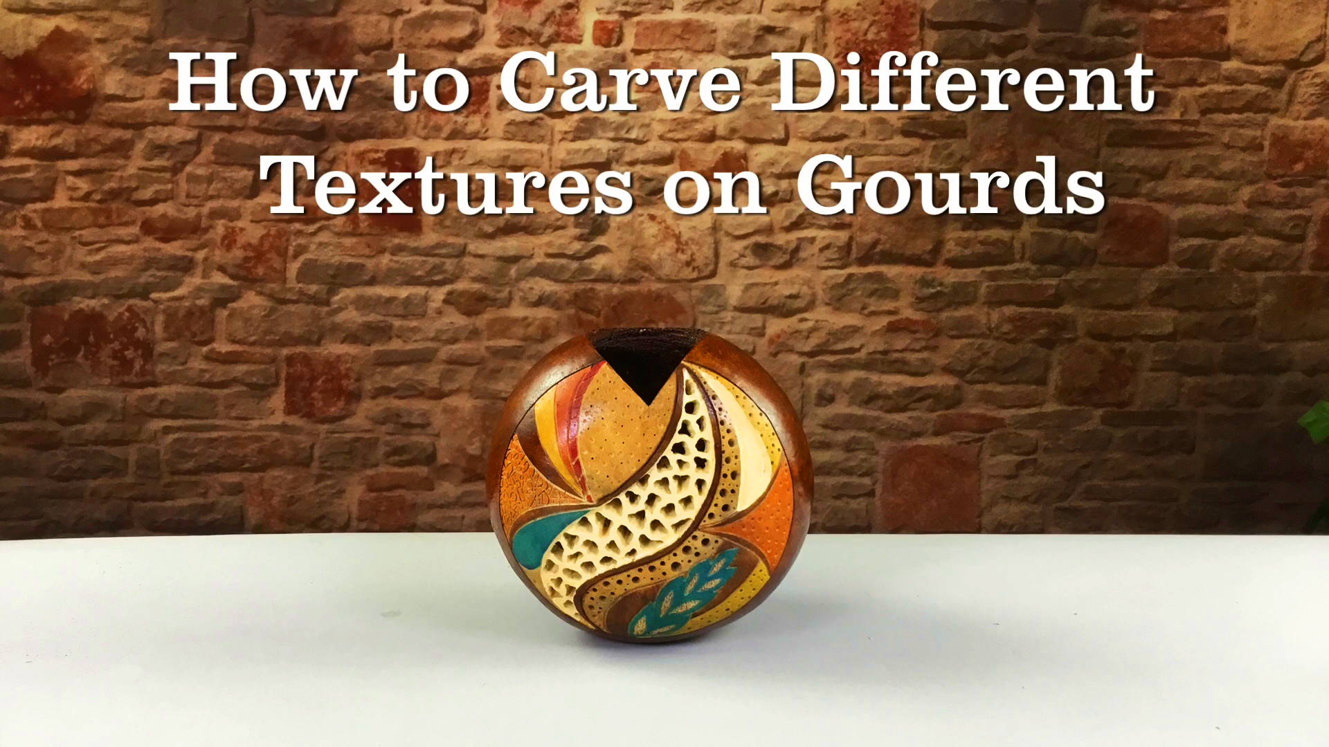 See how to create beautiful carving and colors on your gourd art!