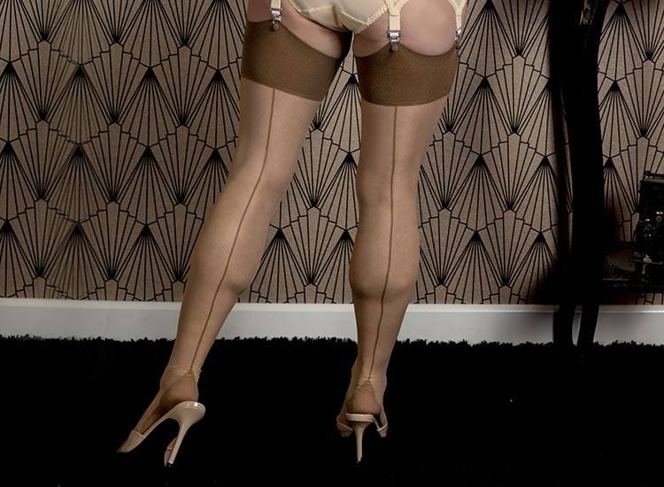 nude seamed stockings