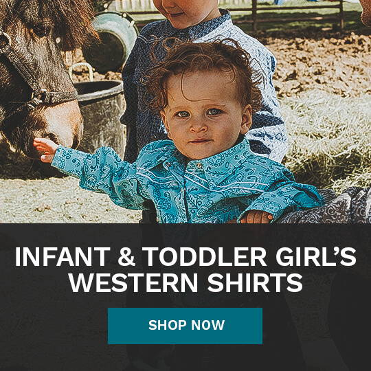 Infant & Toddler Girl's Western Shirts from Cowboy & Cowgirl Hardware