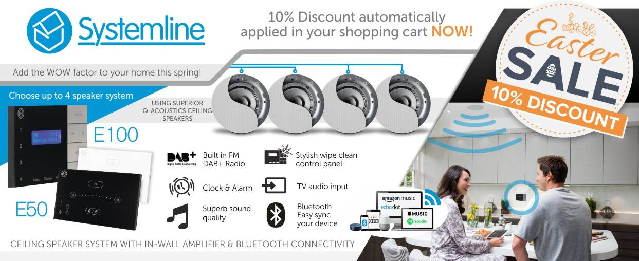 Systemline 10% Discount at Audio Volt in the month of April