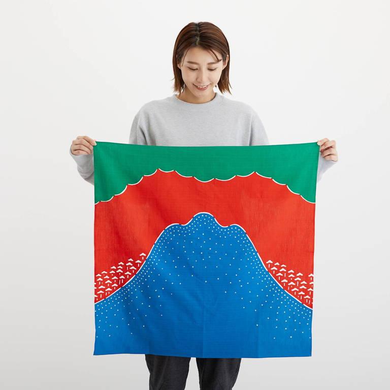 YAMAP(ヤマップ)/うなぎの寝床コラボ ヤマフロシキ あなたの山