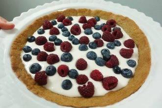 Coconut Cream Fruit Tart with Gluten Free Sugar Cookies Recipe