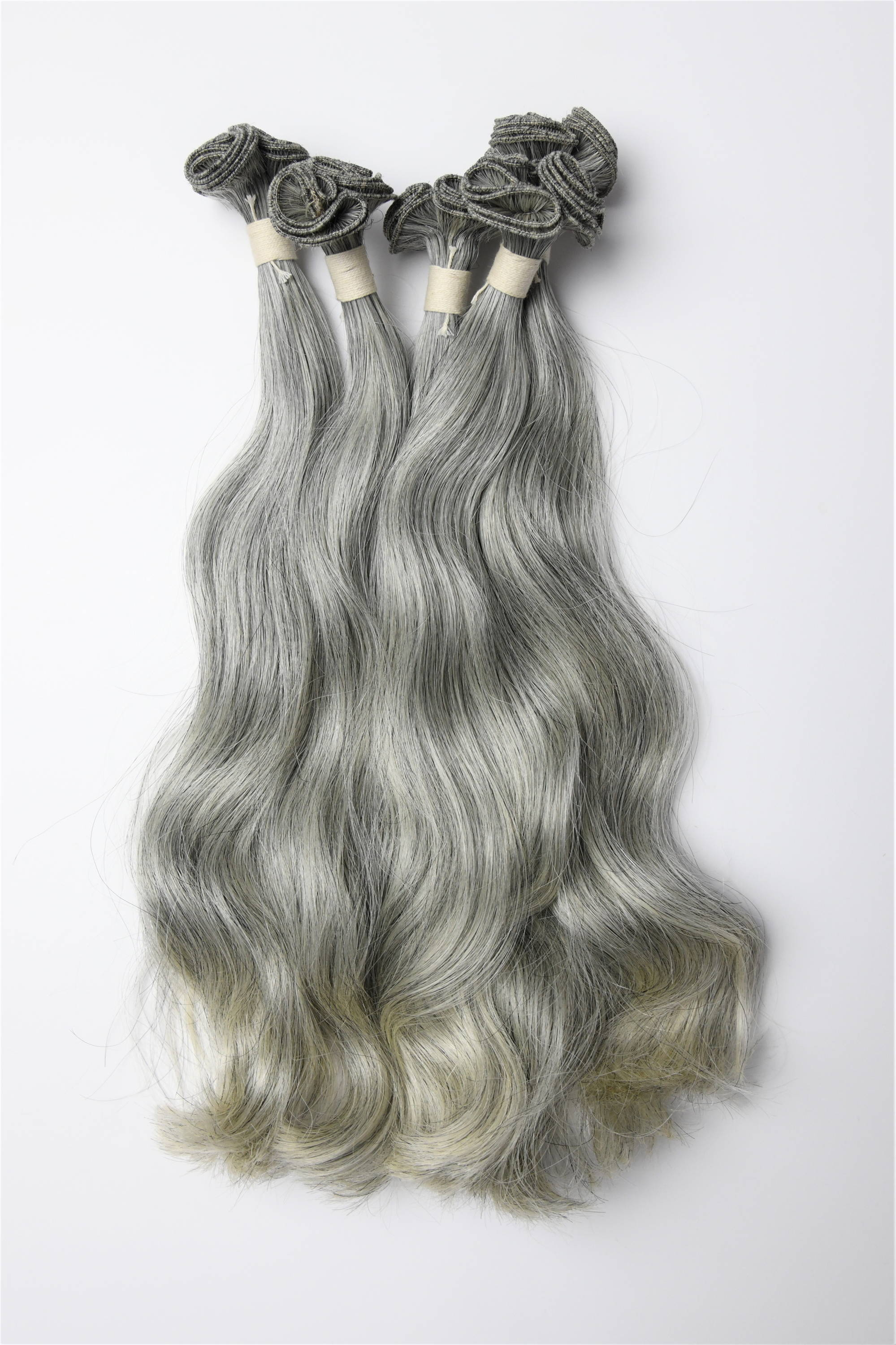 collection of High quality ash color 12 inch Hand-Tied Wefts