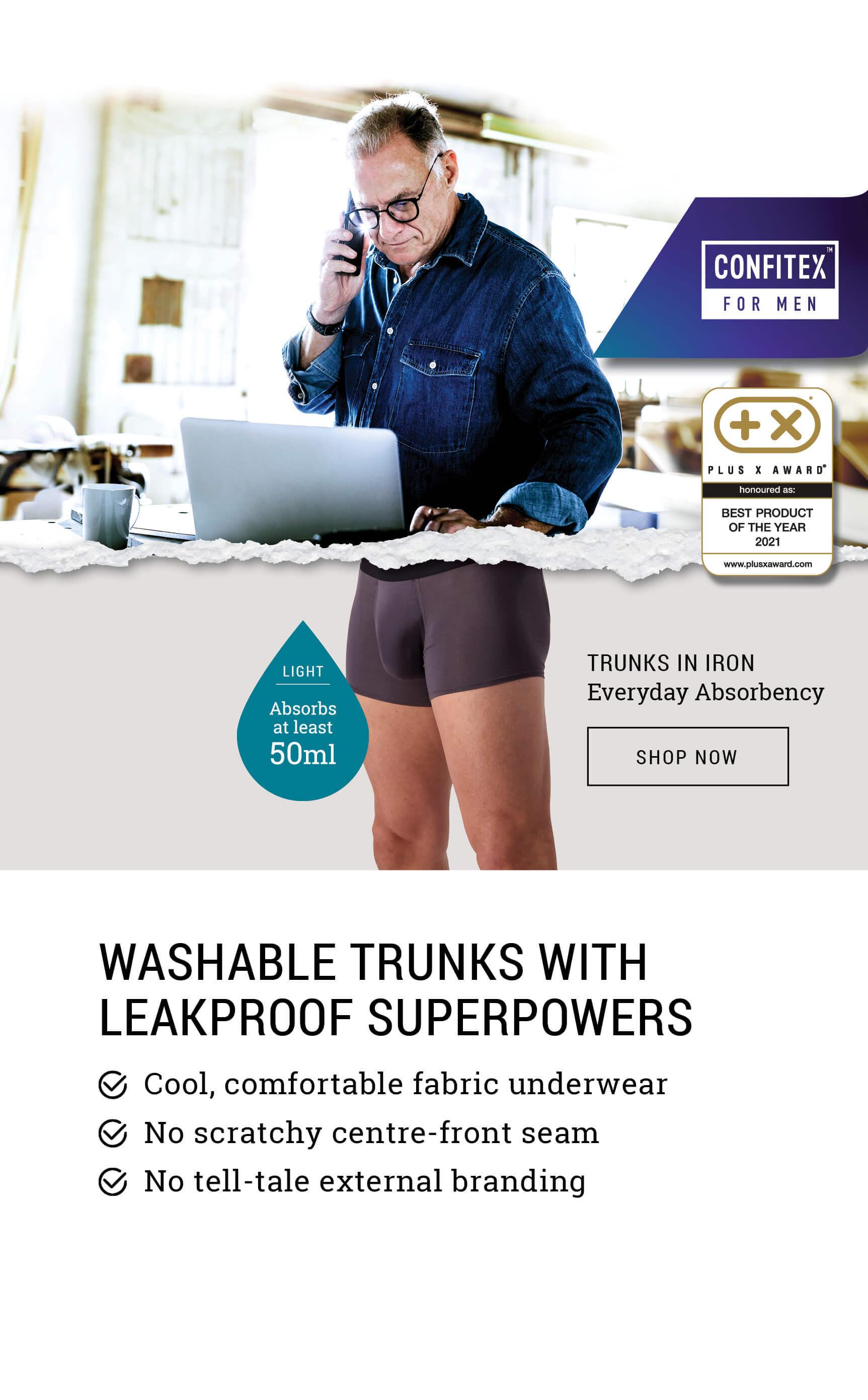 Shop male bladder leakage underwear - Confitex for Men