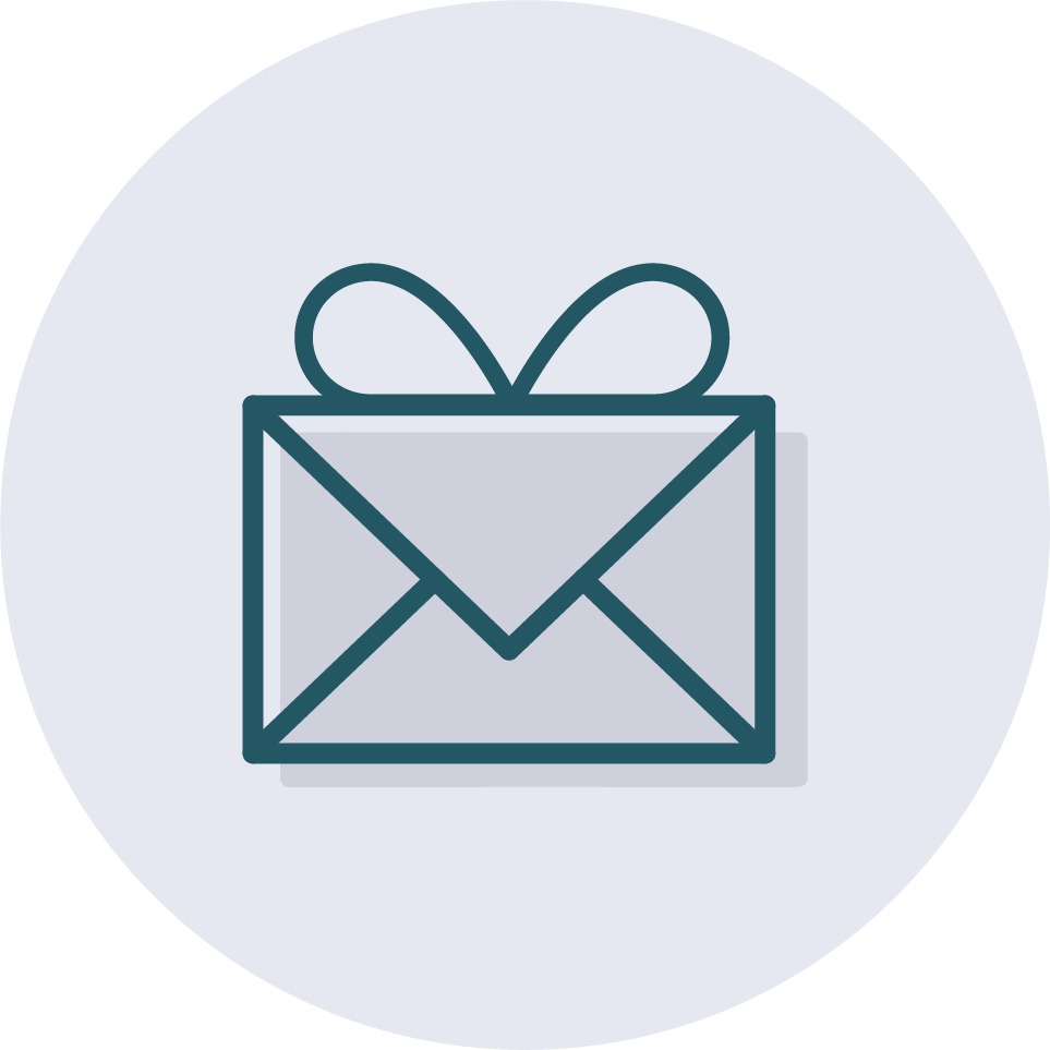 An icon of a personalized corporate note.