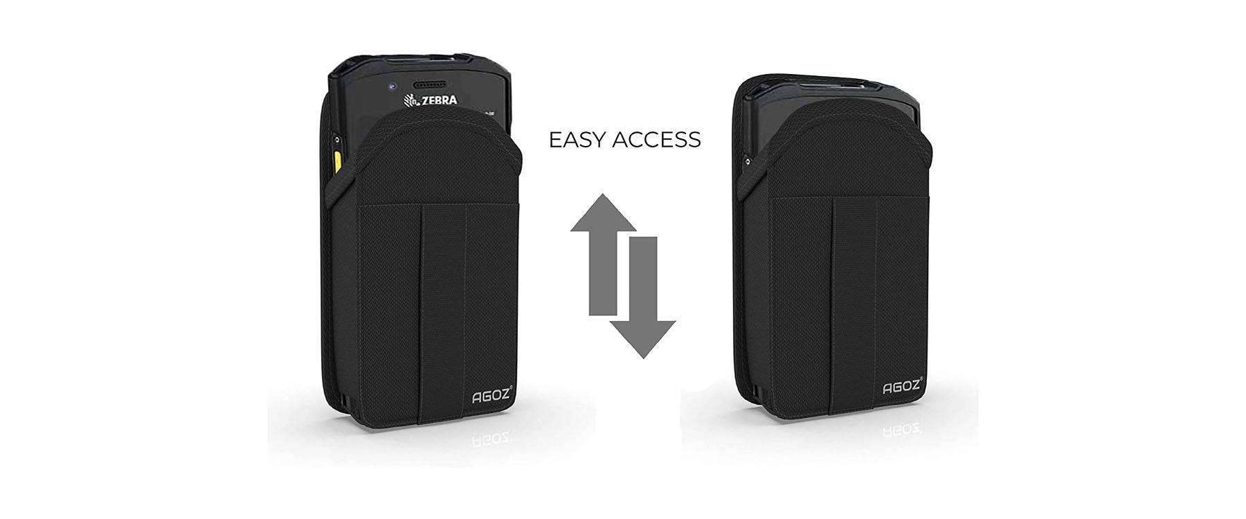Zebra Scanner Case is compatible with Zebra TC77, TC75/75X, TC72, TC70/TC70X, TC57, TC56, TC55, TC52, TC51, TC26, TC21, MC40/MC45, M60, CS3000, CS4070.
