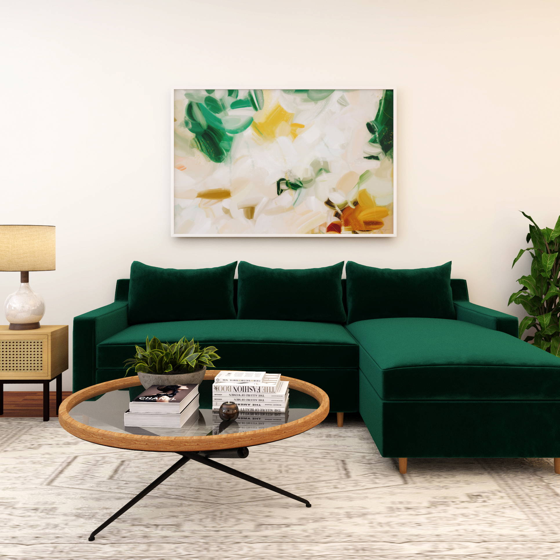 Size guide- art for above the sofa - Parima Studio, abstract art
