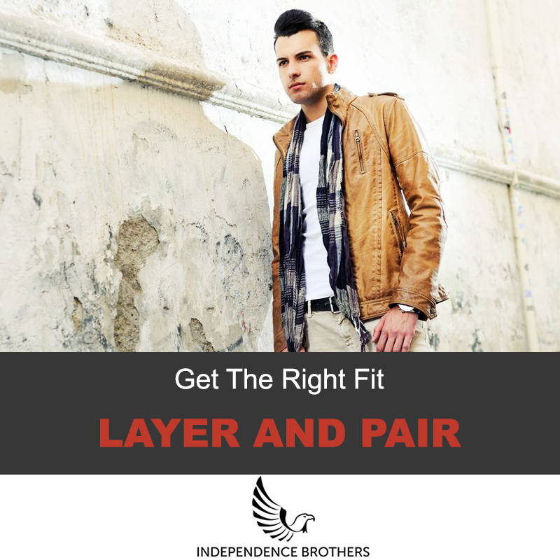 Layer and pair your leather jacket
