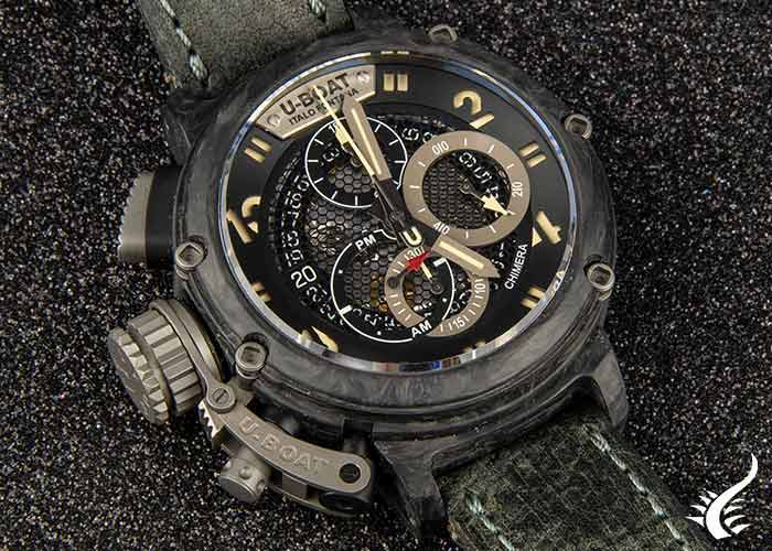 Automatic watch, U-Boat-Chimera,-Carbono-,-Titanio,-46mm,-Limited Edition,-8057