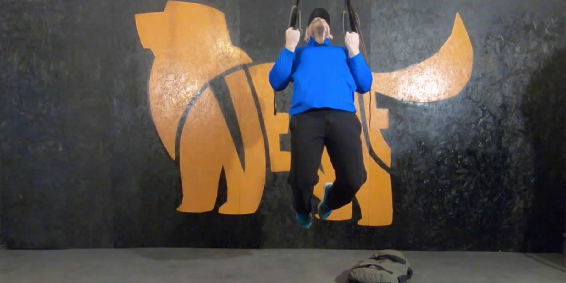NEWF Bag Dead-Hang Chin-Ups Exercise