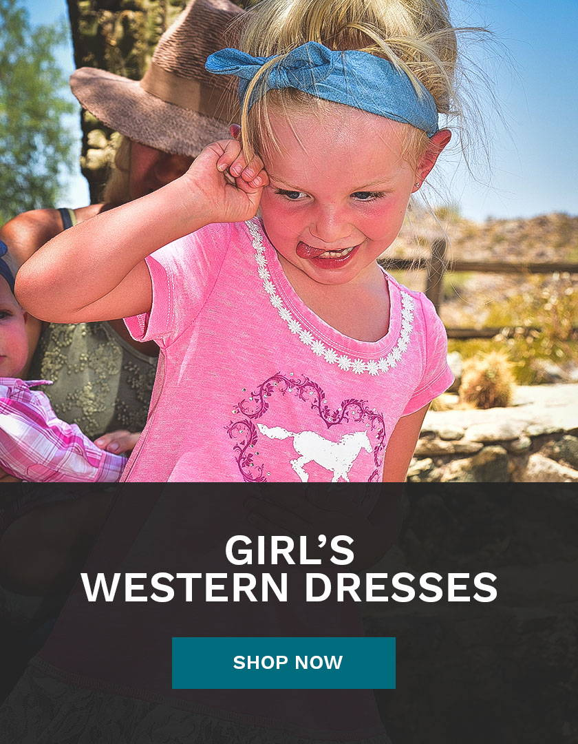 Girl's Western Dresses from Cowboy & Cowgirl Hardware