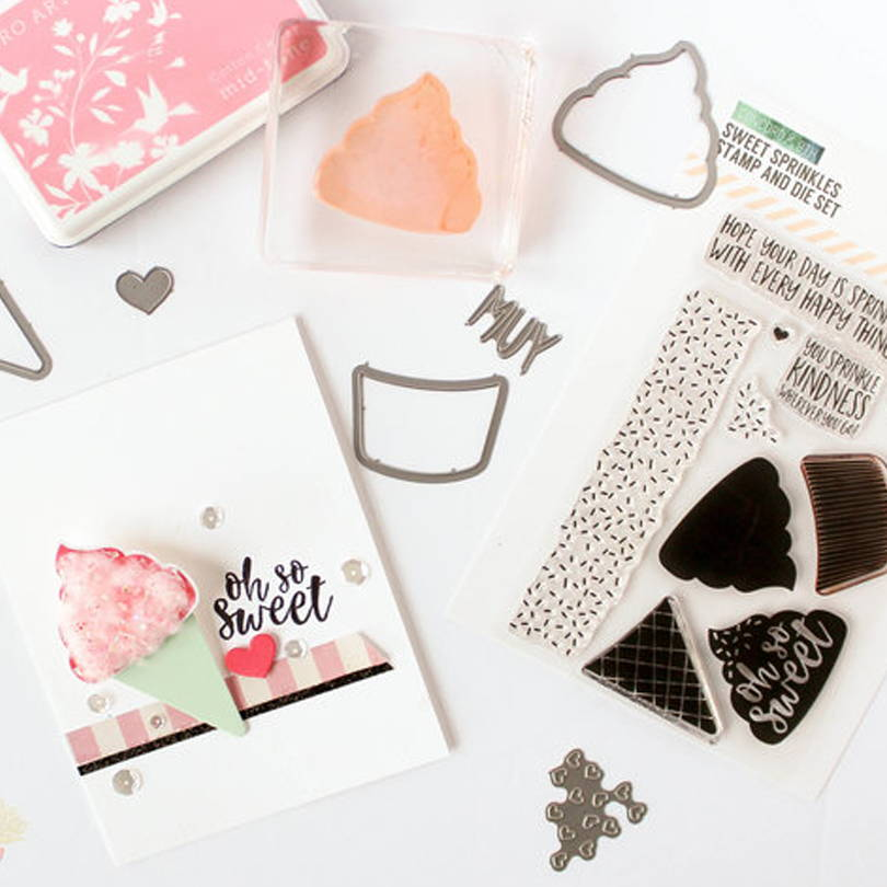 UWF Sweet Sprinkles cotton candy card by Carissa Wiley