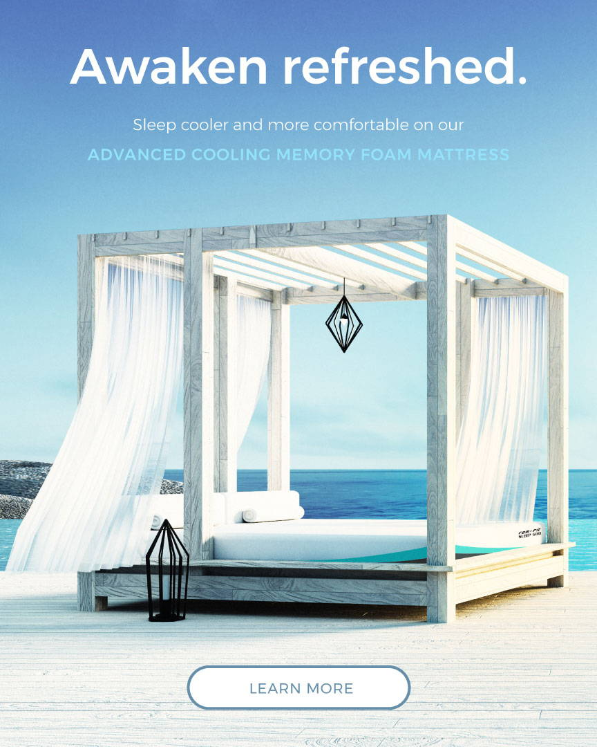 awaken refreshed with our advanced cooling memory foam mattress